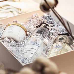 Cotton Home Presentbox_Doftljus linne spray och tvål_1000x1000
